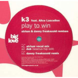 K3 feat ALICE LASCELLES - PLAY TO WIN - 12 Inch