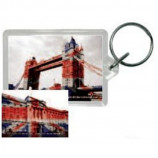 KEYRING / KEYCHAIN - LONDON : TOWER BRIDGE UNION JACK (ACRYLIC) - Merchandise