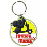 KEYRING / KEYCHAIN - MINIONS MANIA : EMBOSSED RUBBER - Merchandise