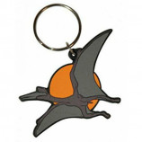 KEYRING / KEYCHAIN - WALKING WITH DINOSAURS PTEROSAUR : EMBOSSED RUBBER - Merchandise