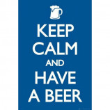 MAXI POSTER (61cm x 91.5cm) - KEEP CALM AND HAVE A BEER - Poster
