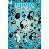 MAXI POSTER (61cm x 91.5cm) - LISTEN TO THE BEAT : HEADPHONES - Poster