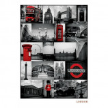 MAXI POSTER (61cm x 91.5cm) - LONDON : RED COLLAGE - Poster