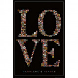 MAXI POSTER (61cm x 91.5cm) - MADALENE'S HEARTS : LOVE - Poster