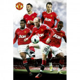 MAXI POSTER (61cm x 91.5cm) - MANCHESTER UNITED PLAYERS 2010-11 - Poster