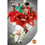 MAXI POSTER (61cm x 91.5cm) - MANCHESTER UNITED PLAYERS 2011-12 - Poster