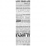 MIDI POSTER (30.5cm x 91.5cm) - INSPIRATIONAL : LIVE YOUR LIFE - Poster