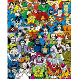MINI POSTER (40cm x 50cm) - DC COMICS : RETRO CAST - Poster