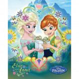 MINI POSTER (40cm x 50cm) - FROZEN FEVER : ANNA AND ELSA - Poster