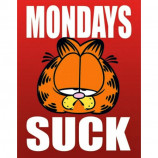 MINI POSTER (40cm x 50cm) - GARFIELD : MONDAYS SUCK - Poster