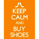 MINI POSTER (40cm x 50cm) - KEEP CALM AND BUY SHOES - Poster