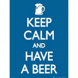 MINI POSTER (40cm x 50cm) - KEEP CALM AND HAVE A BEER - Poster