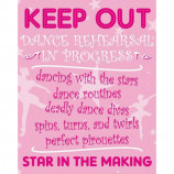 MINI POSTER (40cm x 50cm) - KEEP OUT : BALLERINA AT WORK - Poster