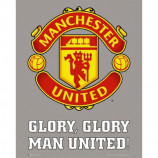 MINI POSTER (40cm x 50cm) - MANCHESTER UNITED CLUB CREST - Poster