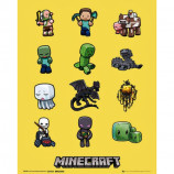 MINI POSTER (40cm x 50cm) - MINECRAFT : CHARACTERS - Poster