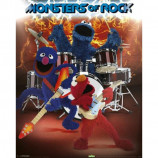 MINI POSTER (40cm x 50cm) - SESAME STREET : MONSTERS OF ROCK - Poster