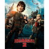 MINI POSTER (40cm x 50cm) - TRAIN YOUR DRAGON 2 : ONE SHEET - Poster