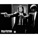 MINI POSTER (50cm x 40cm) - PULP FICTION : GUNS - Poster