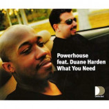 POWERHOUSE - WHAT YOU NEED - CD Single