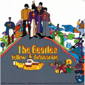 VINYL STICKERS - THE BEATLES : YELLOW SUBMARINE - Merchandise - Books & Others - Others