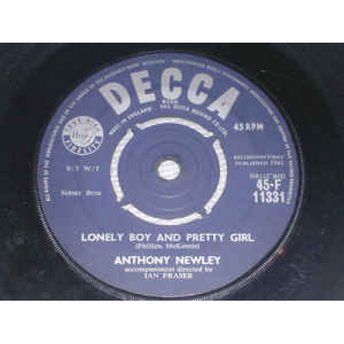 """Anthony Newley - And The Heavens Cried / Lonely Boy And Pretty Girl - Vinyl - 7"""""""