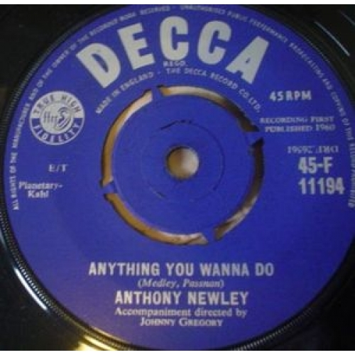 Anthony Newley - Why - 7''- 4-P - Vinyl - 7""