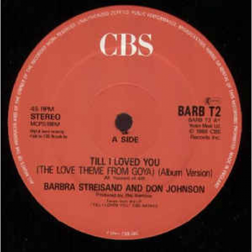 """Barbra Streisand And Don Johnson - Till I Loved You - Vinyl - 12"""""""