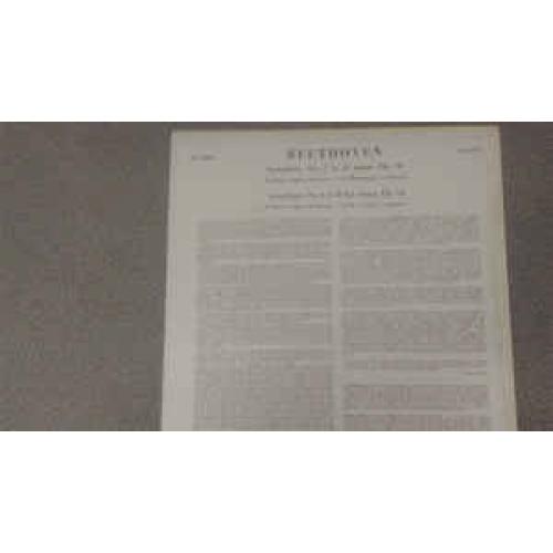 Beethoven,Frankfurt Opera Orchestra,Carl Bamberger - Symphony No.2 In D; Symphony No.4 In B Flat - Vinyl - LP