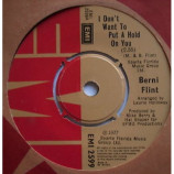 Berni Flint - I Don't Want To Put A Hold On You - 7''- Single