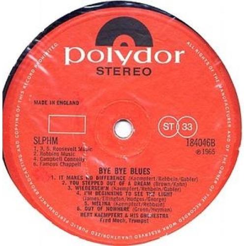 Bert Kaempfert & His Orchestra - Bye Bye Blues - LP, Album - Vinyl - LP