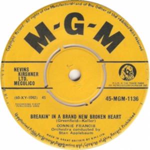 "Connie Francis - Breakin' In A Brand New Broken Heart - 7''- Single - Vinyl - 7"""