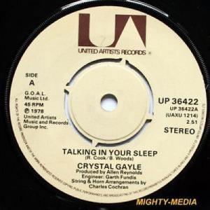 """Crystal Gayle - Talking In Your Sleep - 7'' - Vinyl - 7"""""""