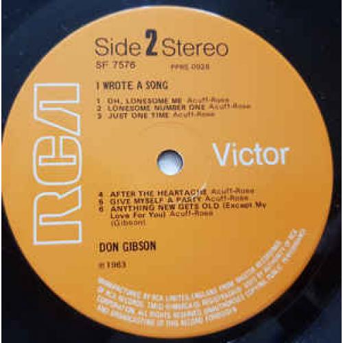 Don Gibson - I Wrote A Song - Vinyl - LP