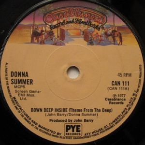 Donna Summer / John Barry - Down Deep Inside (Theme From The Deep) - 7''- Single - Vinyl - 7""
