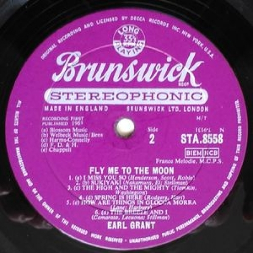 Earl Grant - Fly Me To The Moon - LP, Album - Vinyl - LP