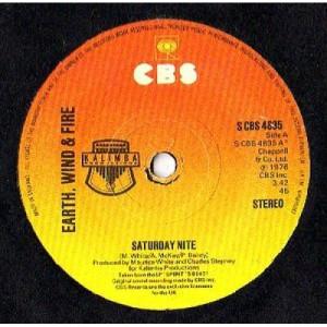"Earth, Wind & Fire - Saturday Nite - 7'' - Vinyl - 7"""
