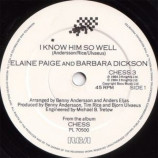 Elaine Paige And Barbara Dickson - I Know Him So Well - 7''- Single