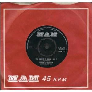 "Gilbert O'Sullivan - I'll Believe It When I See It - 7'' - Vinyl - 7"""