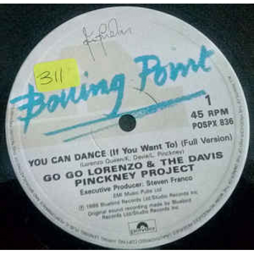 """Go Go Lorenzo & The Davis Pinckney Project - You Can Dance (If You Want To) - Vinyl - 12"""""""