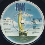 Hot Chocolate - Put Your Love In Me - 7''- Single