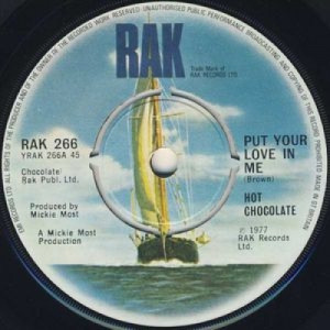 """Hot Chocolate - Put Your Love In Me - 7''- Single - Vinyl - 7"""""""