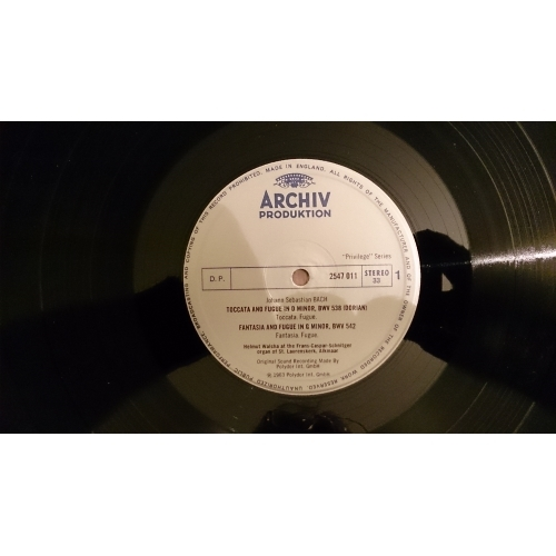 J S Bach,Helmut Wacha - Dorische Toccata Und Fuge, Fantasie Und Fuge G-Moll, Toccata - Vinyl - LP