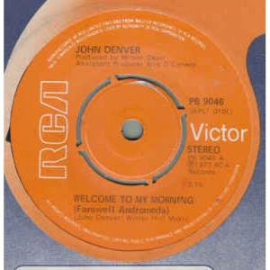 John Denver -  Welcome To My Morning (Farewell Andromeda) - Vinyl - 45''