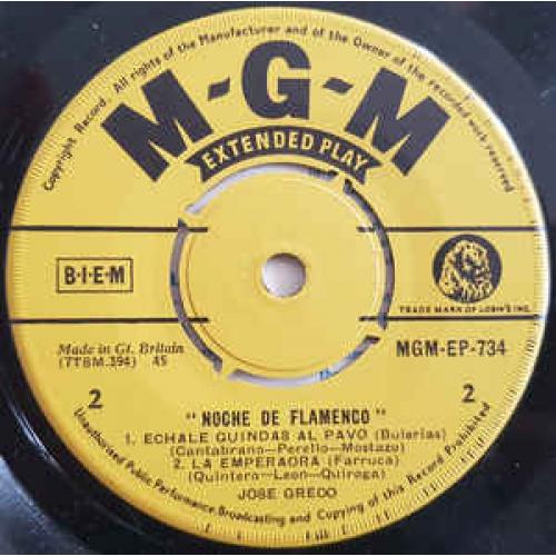 Jose Greco - Noche De Flamenco - Vinyl - EP