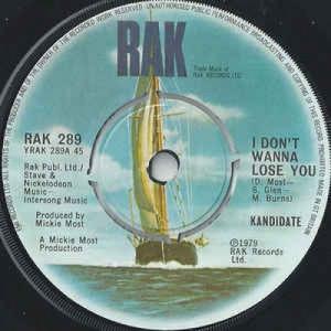 Kandidate - I Don't Wanna Lose You - Vinyl - 45''