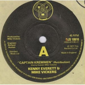 "Kenny Everett & Mike Vickers - Captain Kremmen - 7''- Single - Vinyl - 7"""