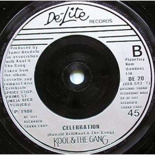 Kool & The Gang - Cherish / Celebration - 7''- Single, Sil - Vinyl - 7""