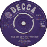 Mike Berry With The Outlaws - Will You Love Me Tomorrow / My Baby Doll