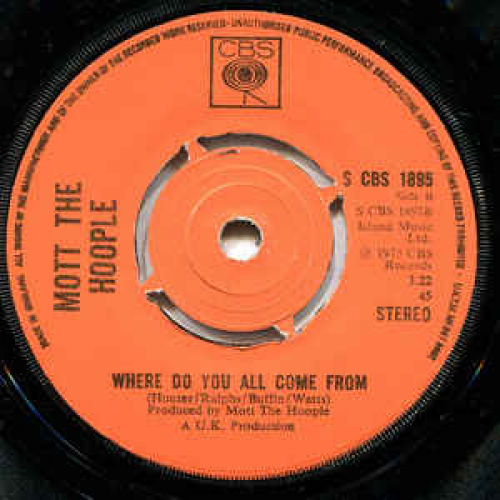 Mott The Hoople - Roll Away The Stone - Vinyl - 45''