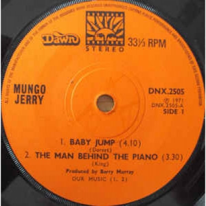 "Mungo Jerry - Baby Jump - Vinyl - 7"""